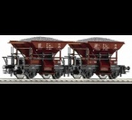 66038 Roco 2-piece set of hopper wagons, PKP